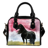 Art Horse Shoulder Handbag