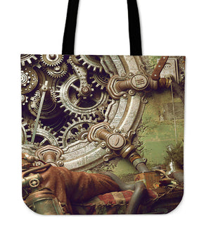 Steampunk Gears Tote Bag - Hello Moa