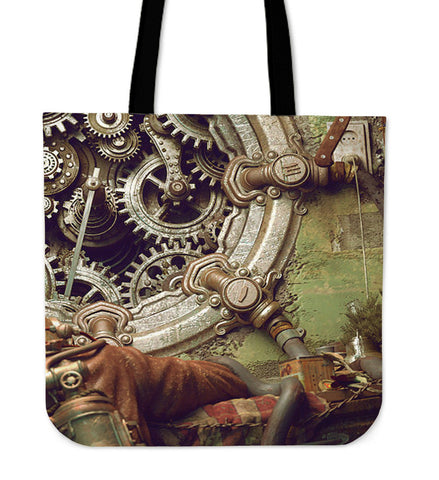 Steampunk Gears Tote Bag