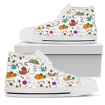Cats With Wool Canvas Hi Tops - Hello Moa