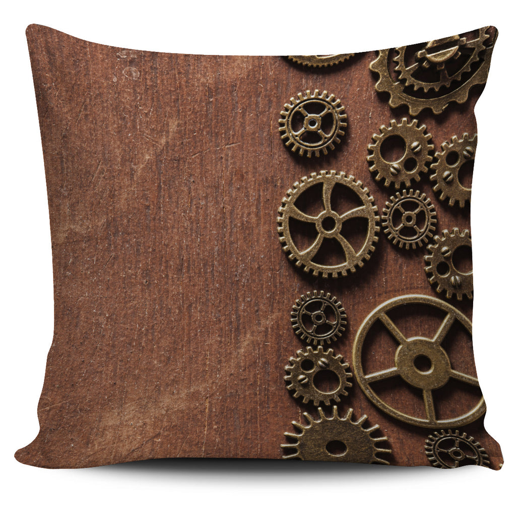 Steampunk Gears II Pillow Cover