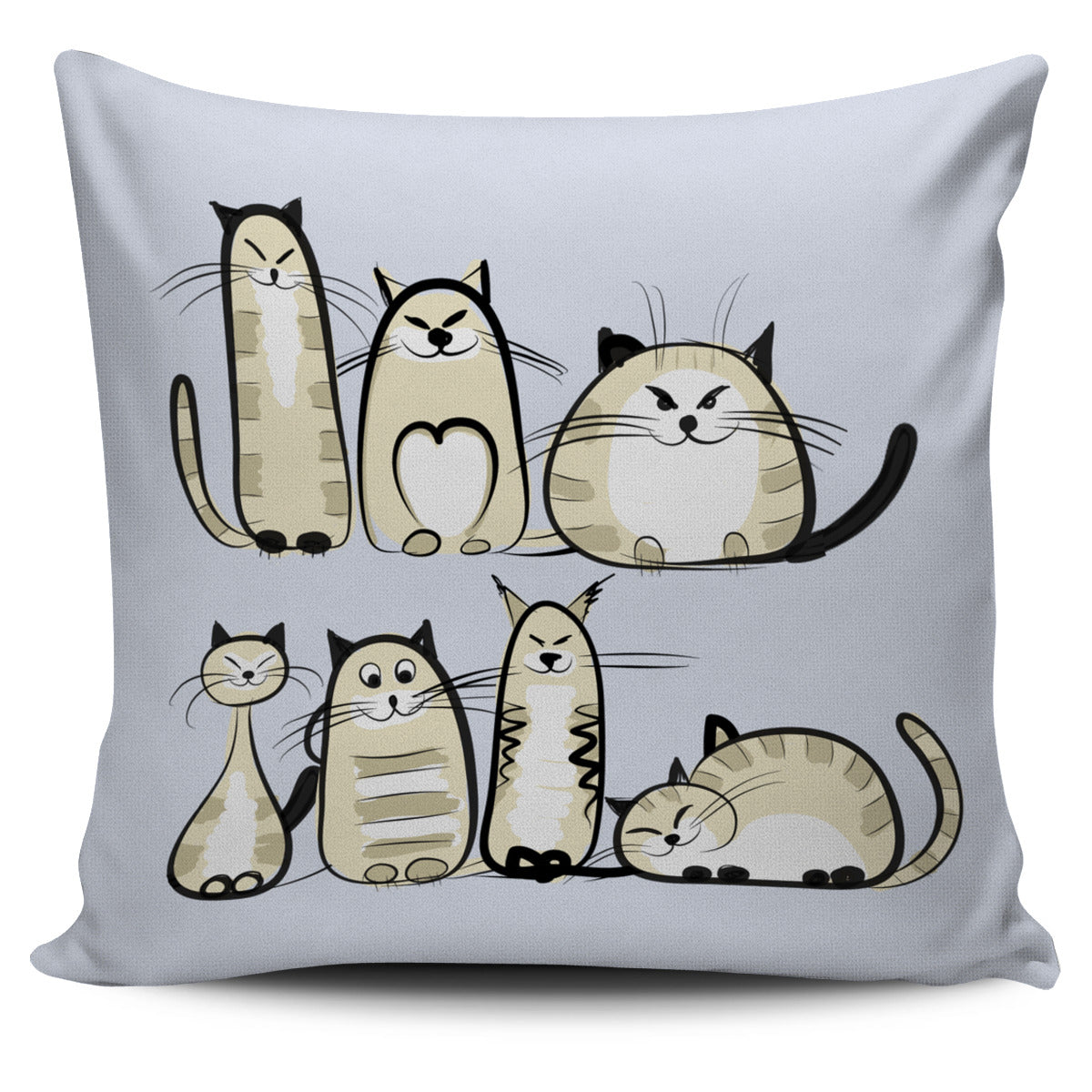 Funny Cat IV Pillow Cover - Hello Moa