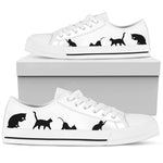 Black & White Cat Lo Cut Shoes - Hello Moa