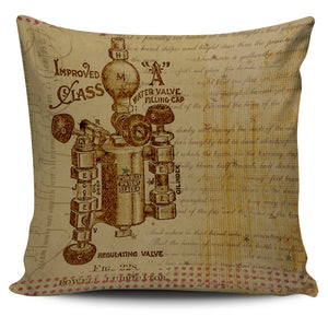 Steampunk Valve Pillow Cover - Hello Moa