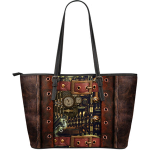 Steampunk V Leather Tote