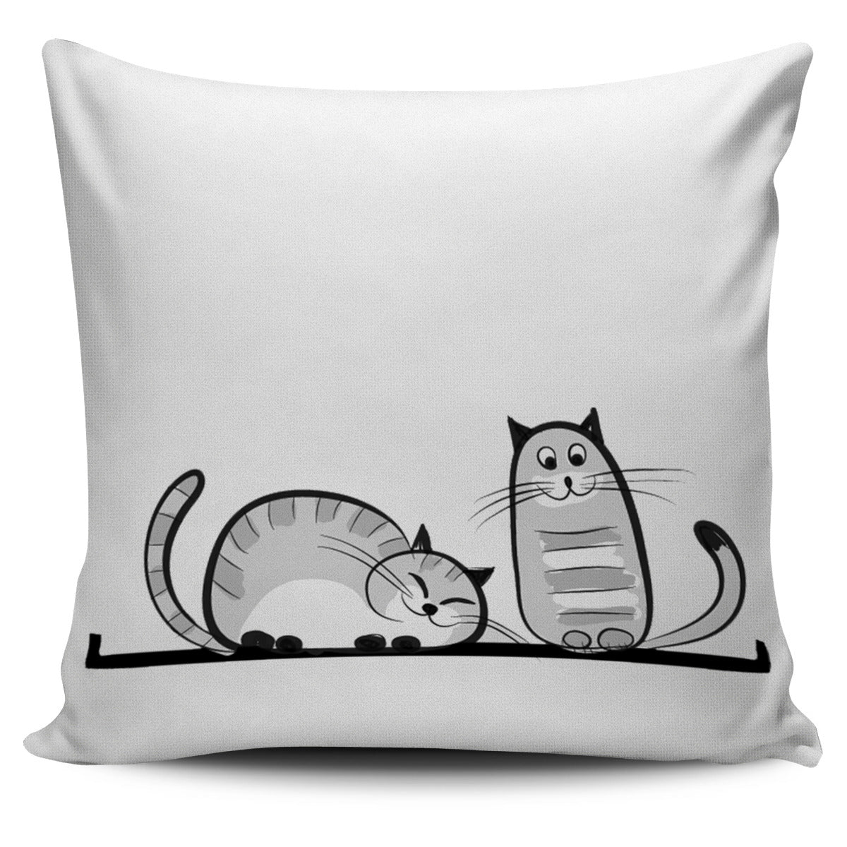 Funny Cat XIII Pillow Cover - Hello Moa