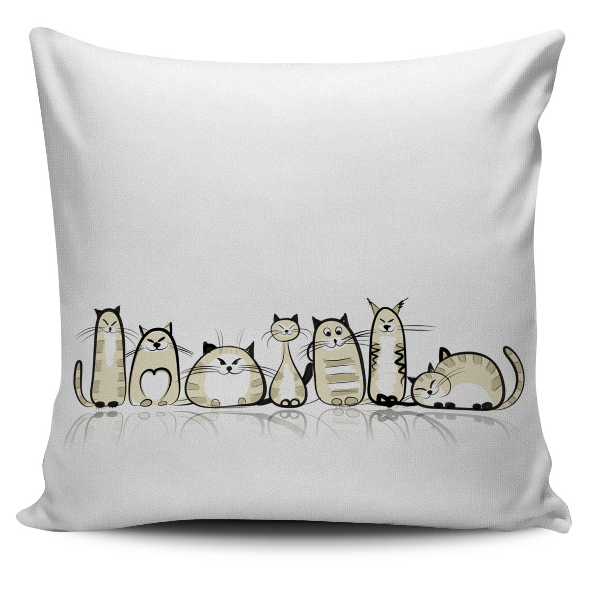 Funny Cat II Pillow Cover - Hello Moa