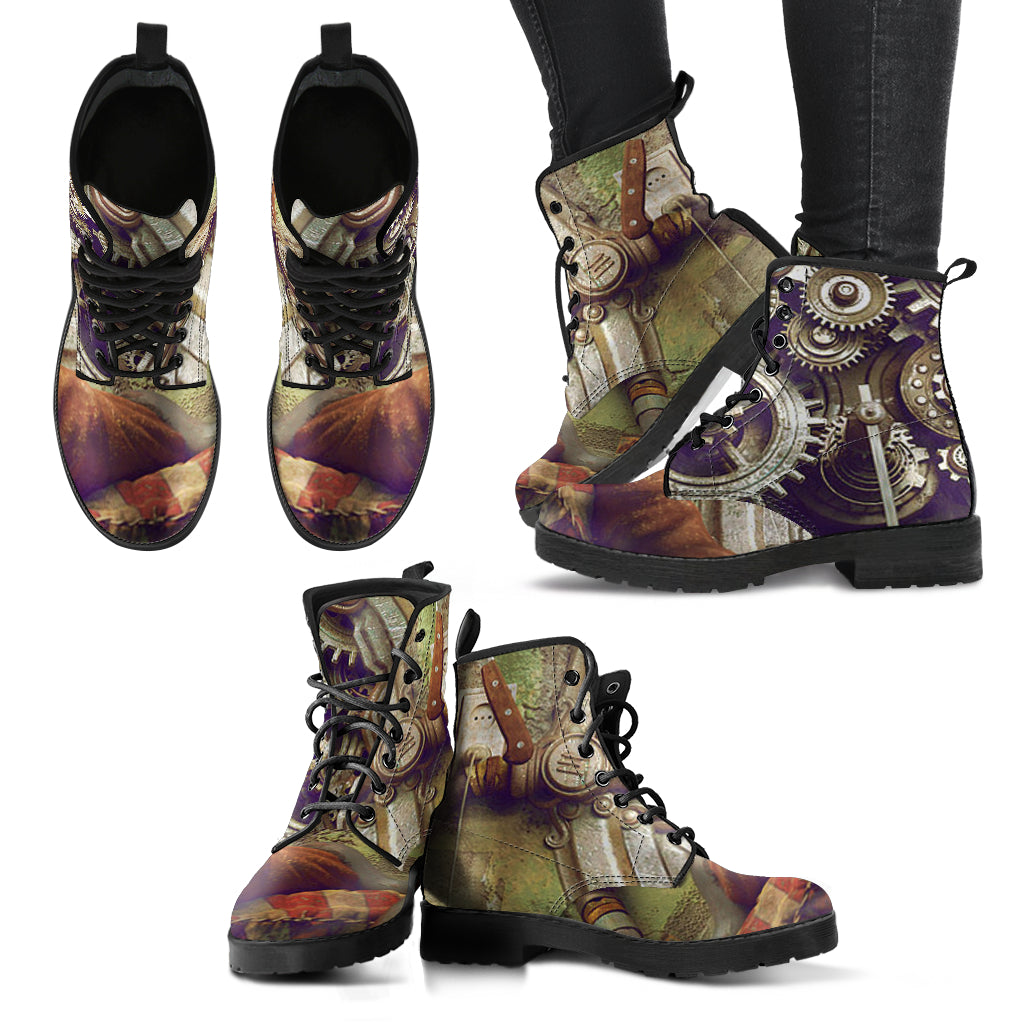 Steampunk Gear Boots - Hello Moa