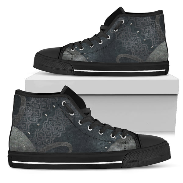 Navy Lace High Tops (Men's)