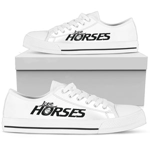 Express Love Horses Shoes White (Women's) - Hello Moa