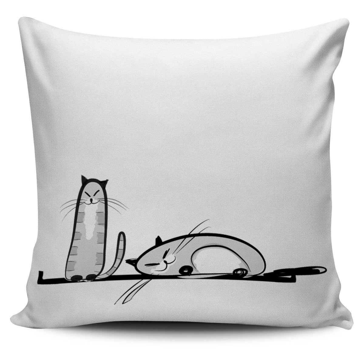 Funny Cat XV Pillow Cover