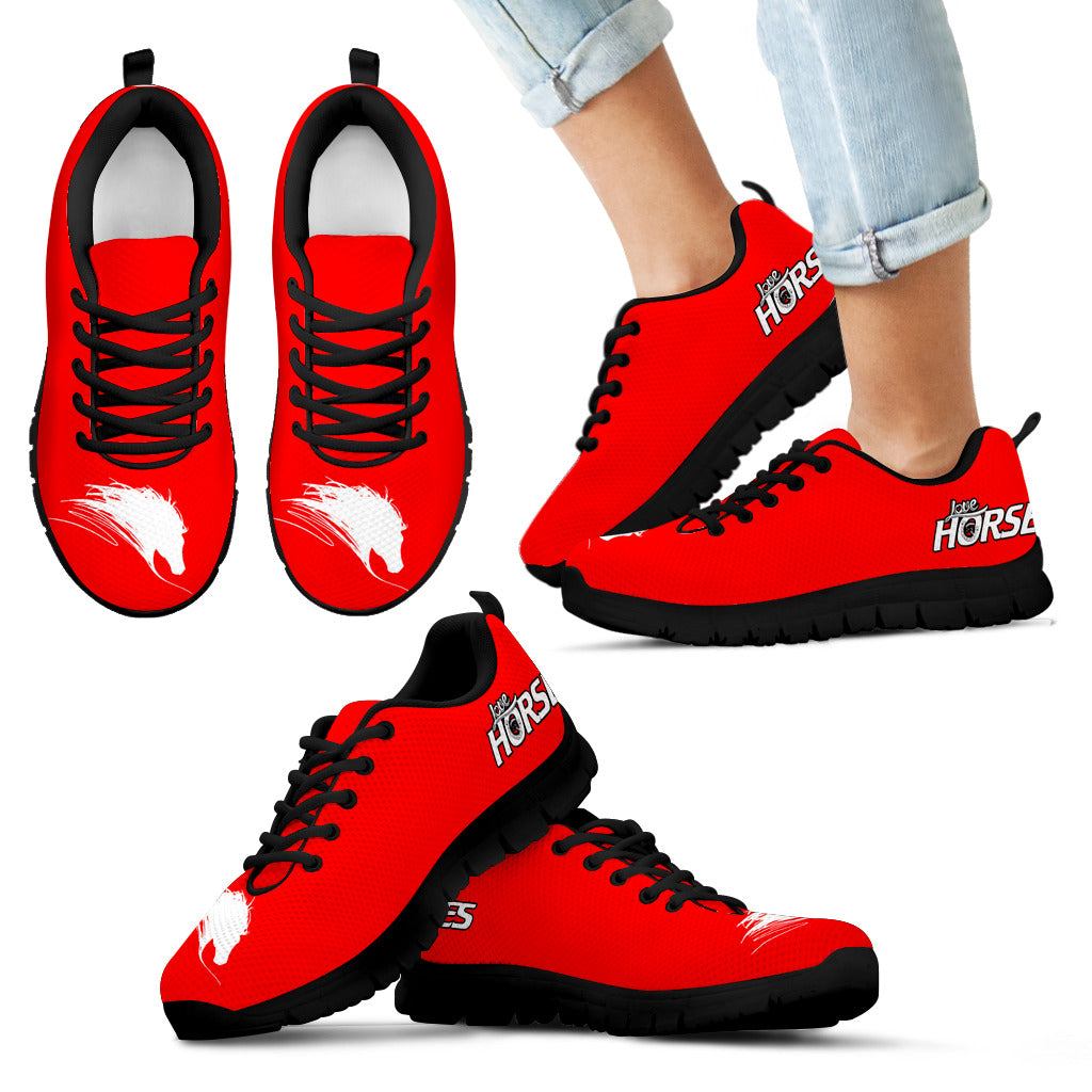 Express Love Horses Kids Sneakers - Hello Moa