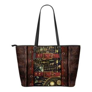 Steampunk IV Leather Tote (Small) - Hello Moa