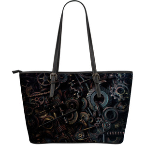 Brown Gear Large Tote - Hello Moa