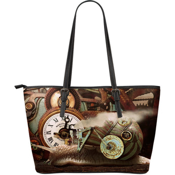 Steampunk Snail Leather Tote