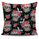 Black Red Skull Pillow Cover - Hello Moa