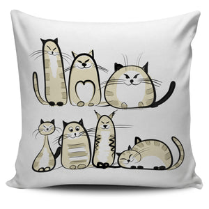 Funny Cat III Pillow Cover - Hello Moa