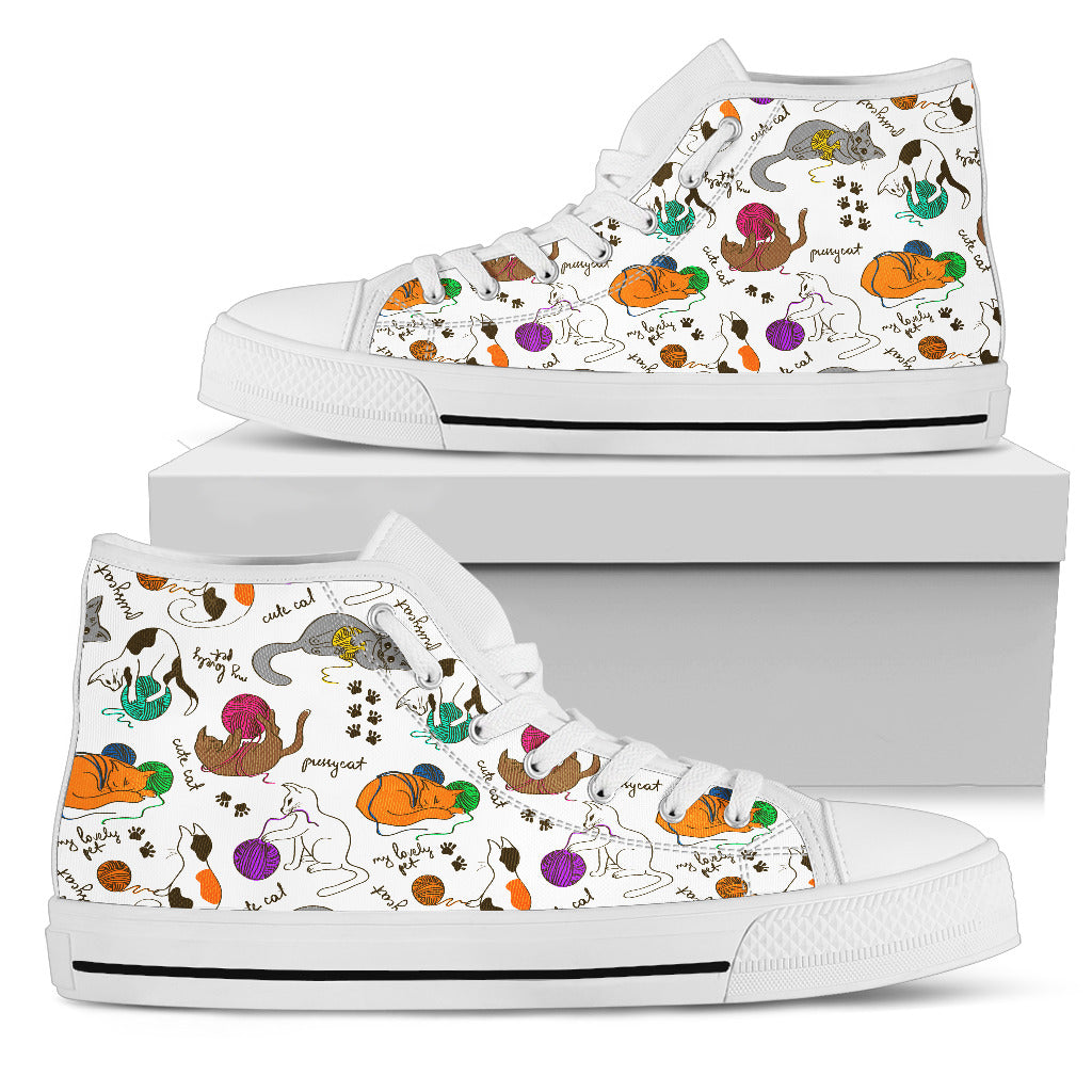 Cats With Wool Canvas Hi Tops