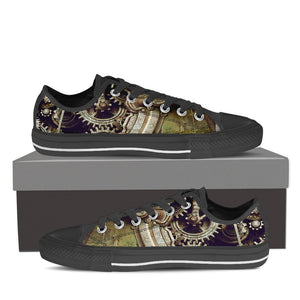 Steampunk Gear Low Tops - Hello Moa