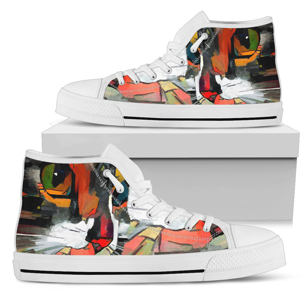 Cat Art I Canvas Shoes (Women's) - Hello Moa