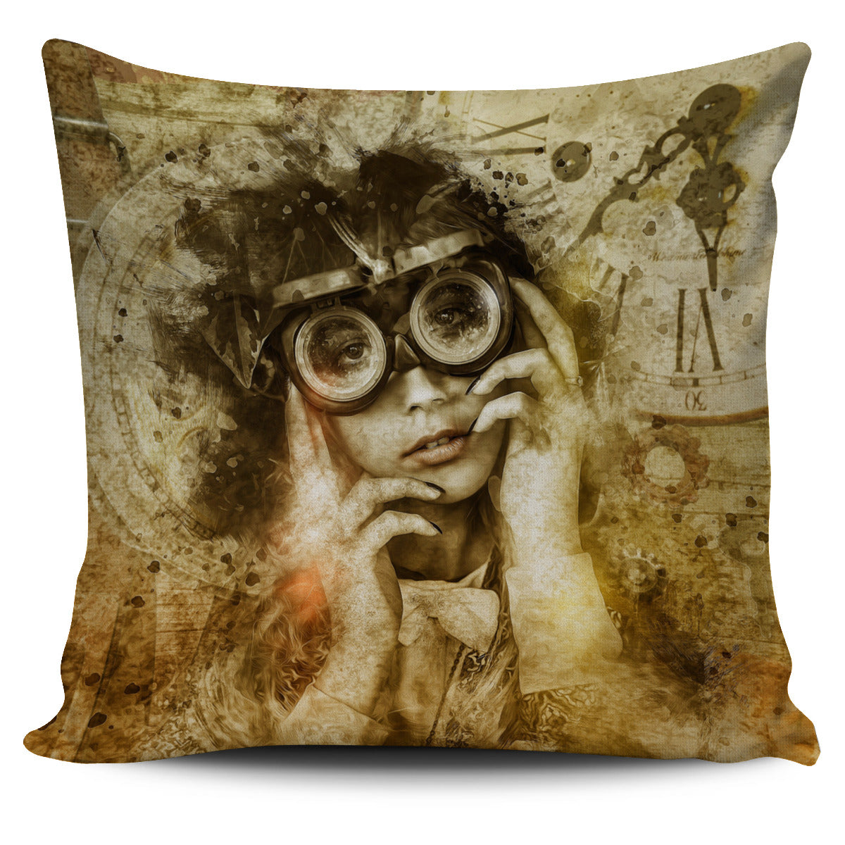 Steampunk Viewer Pillow Cover - Hello Moa