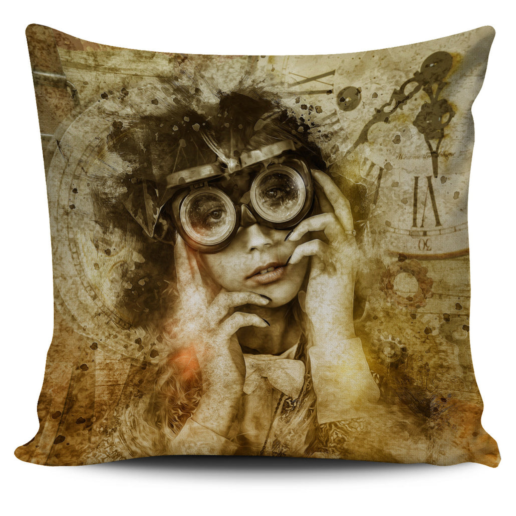 Steampunk Viewer Pillow Cover