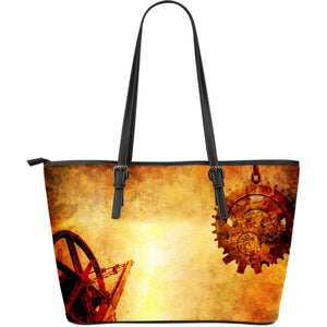 Steampunk II Leather Tote Bag