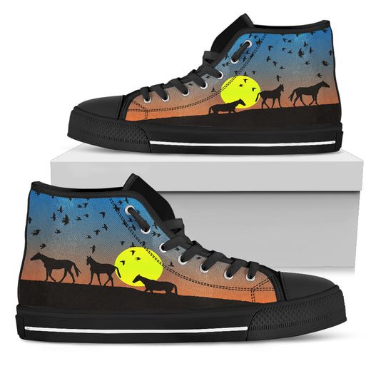 Setting Sun Horse Hi Tops