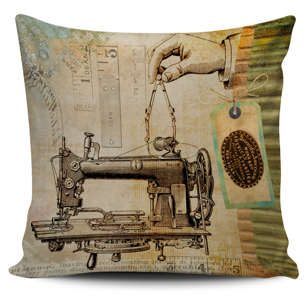 Steampunk Sewing Pillow Cover