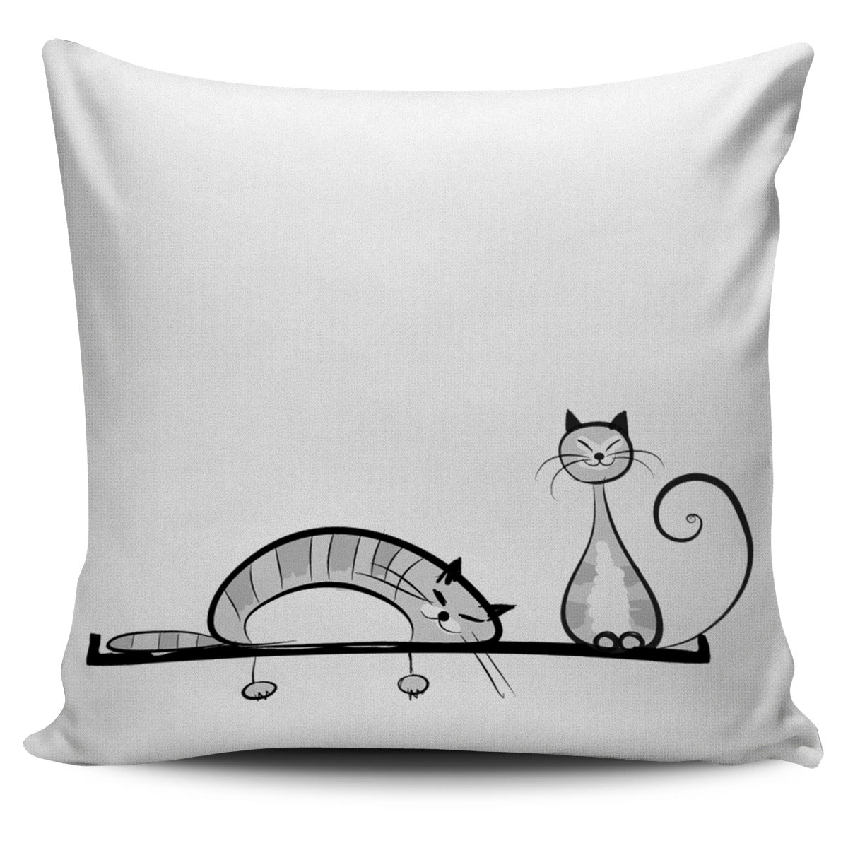 Funny Cat XIV Pillow Cover