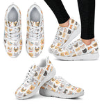 Cat Faces Sneakers (Women's) - Hello Moa