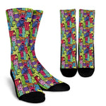 Cartoon Cat Socks - Hello Moa