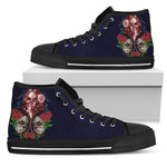 Purple Sugar Skull High Top Shoes - Hello Moa
