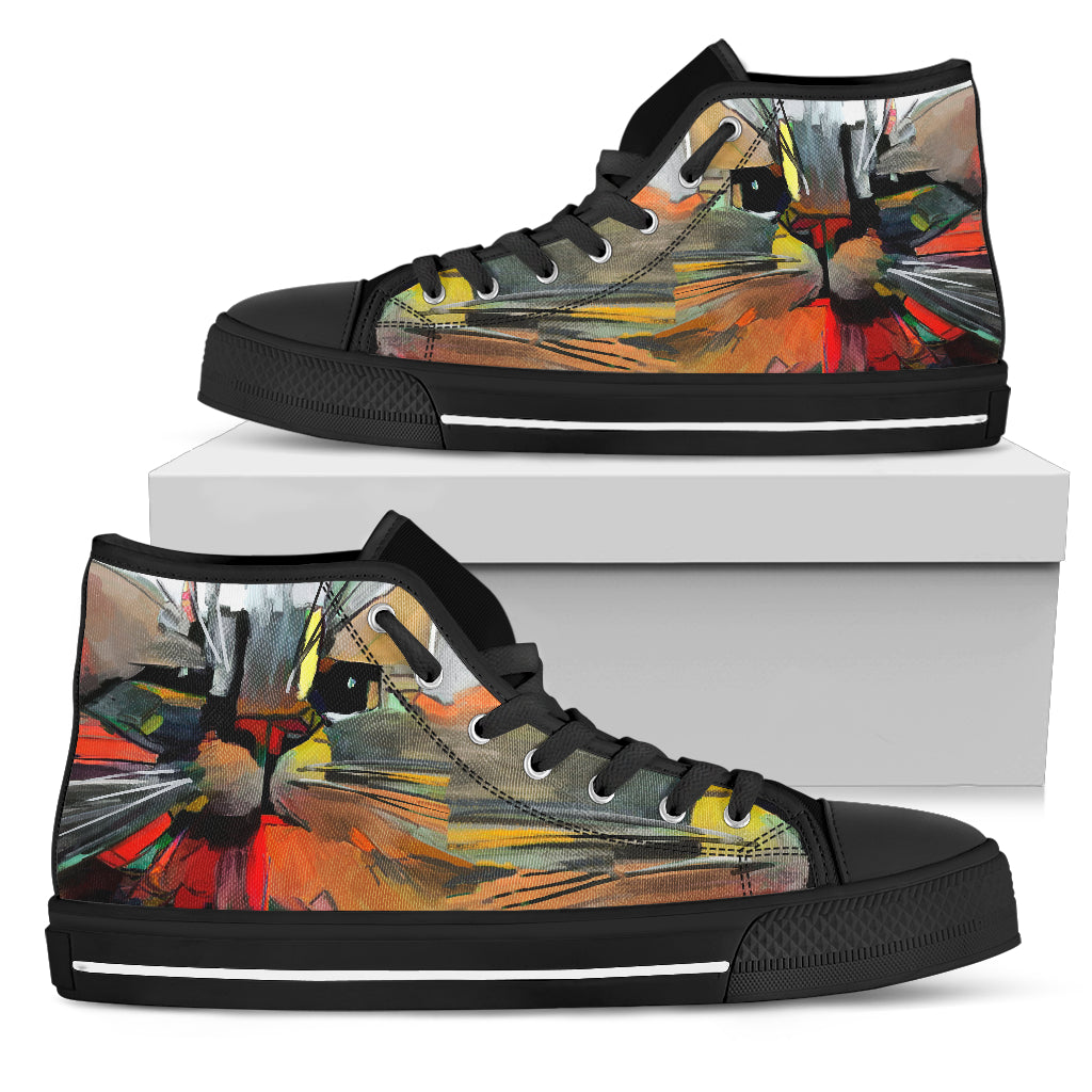 Cat Art III Canvas Shoes (Women's)