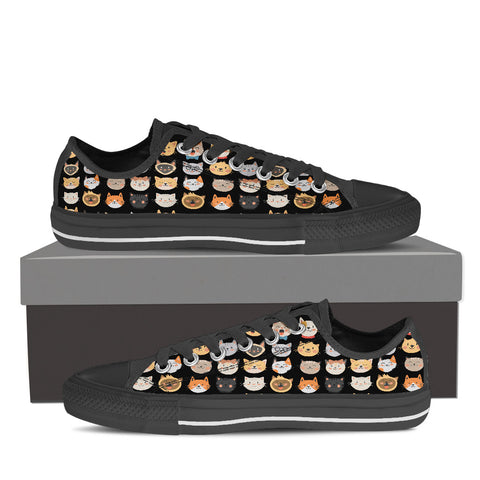 Image of Adorable Cat Low Tops (Women's)