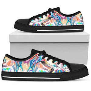 Watercolor Horse II Lo Top Shoes - Hello Moa