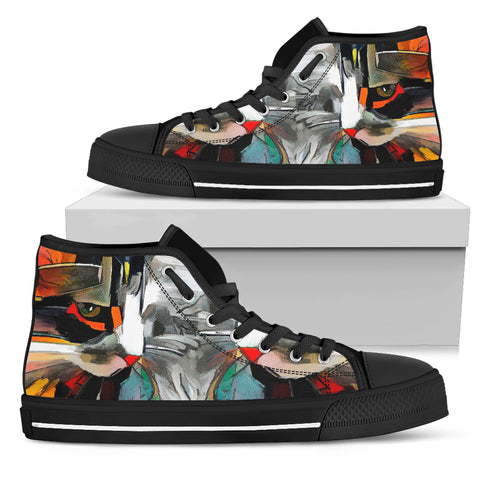 Image of Cat Art IV Canvas Shoes (Women's)
