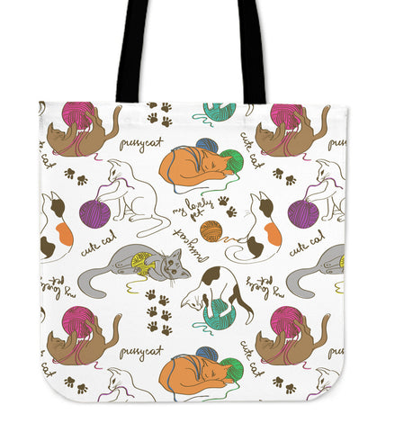 Image of Cats & Wool Cloth Tote Bag