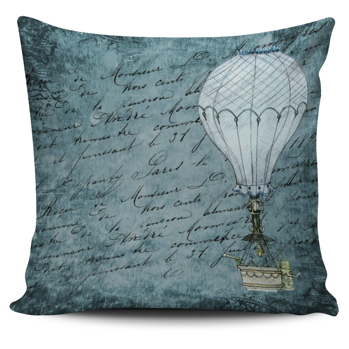 Steampunk Balloon Pillow Cover - Hello Moa