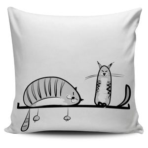 Funny Cat XVIII Pillow Cover