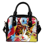 Red Cat Shoulder Handbag
