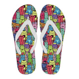 Cartoon Cat Flip Flops