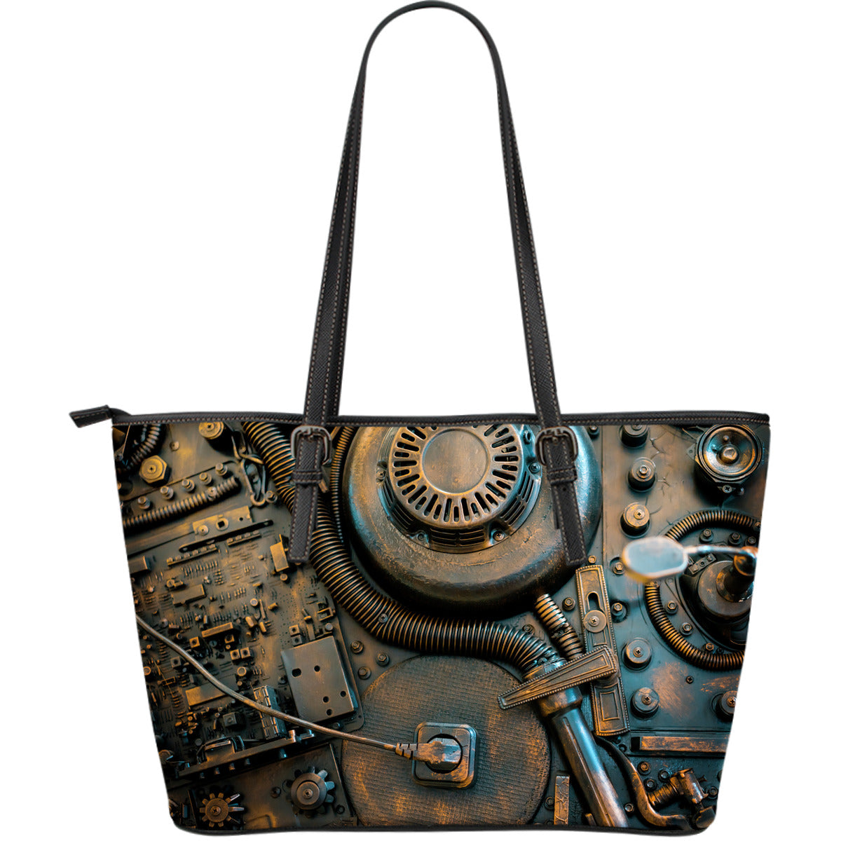 Steampunk Circuit 2 Large Tote