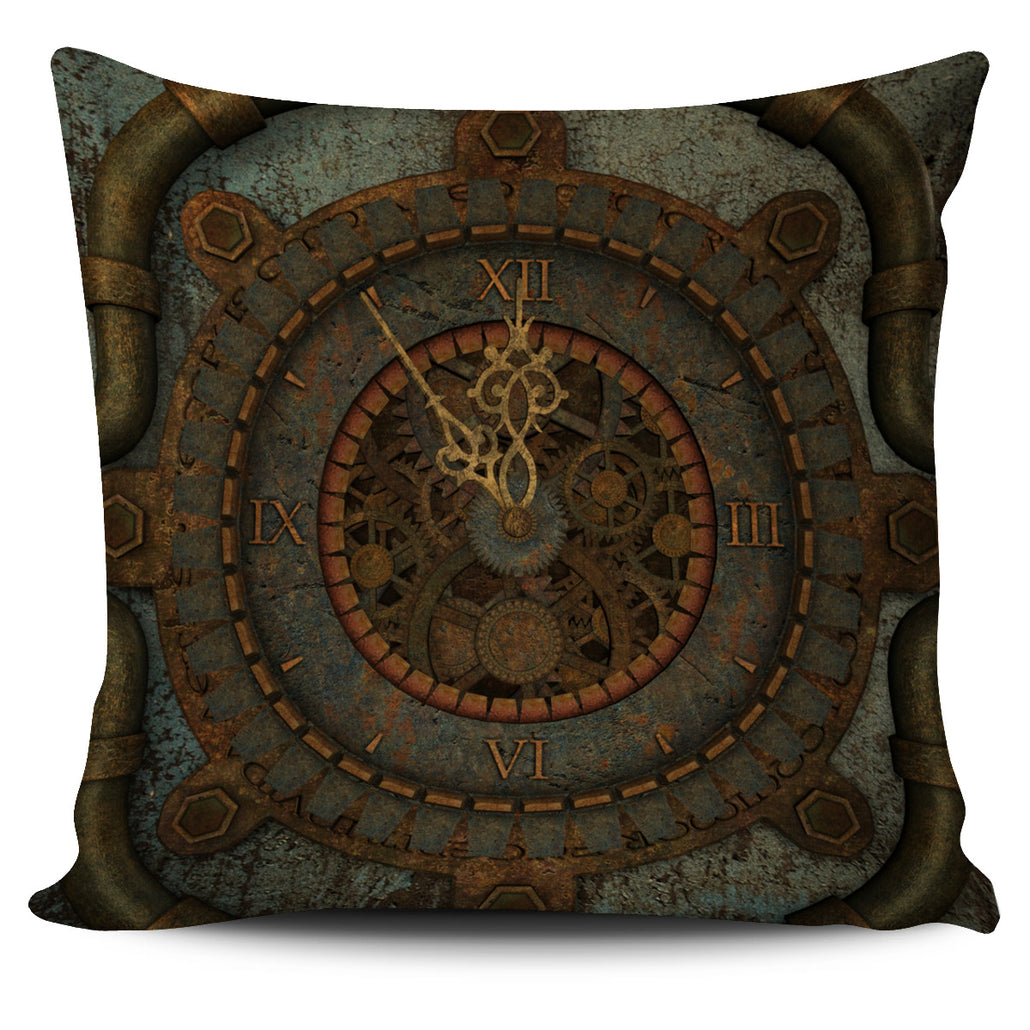 Vintage Clock Pillow Cover