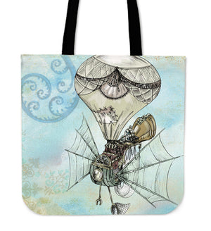 Steampunk Plane Cloth Tote Bag - Hello Moa