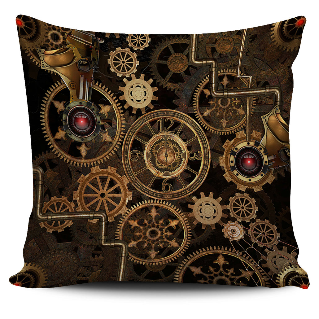 Steampunk Gears Pillow Cover
