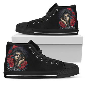 Darkside Sugar Skull High Top Shoes