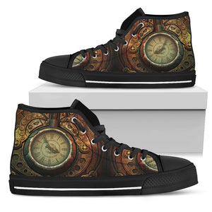 Piston Clock Steampunk High Cut Shoes - Hello Moa