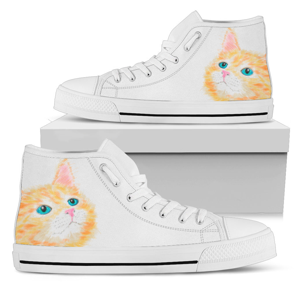 Watercolor Cat III Shoes (Women's) - Hello Moa