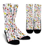 Cartoon Cat II Socks - Hello Moa